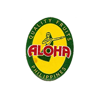 ALOHA QUALITY FRUITS  19 x 25 mm paper before 2012  Philippines unique