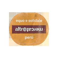 altromercato equo e solidale  26,5 x 22,1 mm paper 2011 J Peru unique