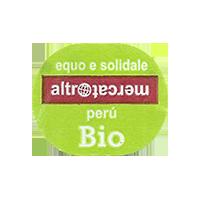 altromercato BIO  26,6 x 22 mm paper Peru 2014 J unique