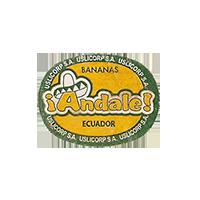 Andale!  BANANAS USLICORP S.A.  23,7 x 18mm paper before 2009 J Ecuador unique