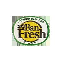 Ban Fresh PREMIUM BANANAS  23,4 x 18,5 mm paper 2012 M Ecuador unique