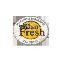 Ban Fresh PREMIUM BANANAS  22,7 x 18,7 mm paper 2013 J Colombia unique