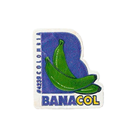 BANACOL #4235   19,8 x 22,6 mm paper before 2012 Colombia unique