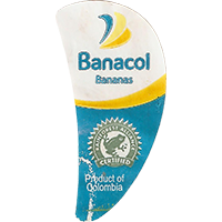 Banacol Bananas Produst of Columbia RAINFOREST ALLIANCE CERTIFIED  0 x 0 mm paper 2017  Columbia unique