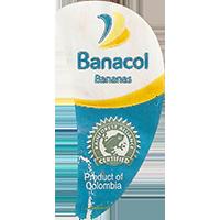 Banacol Bananas Produst of Columbia RAINFOREST ALLIANCE CERTIFIED  0 x 0 mm paper 2017  Columbia unique