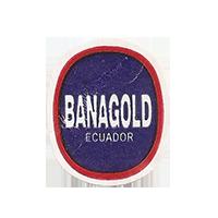 BANAGOLD  21,9 x 26,5 mm paper before 2012 NB Ecuador unique