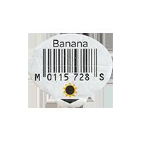 Banana M 0115 728 S  0 x 0 mm paper 2017  unique