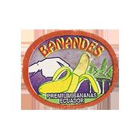 BANANDES PREMIUM BANANAS  27 x 22,1 mm paper 2013 M Ecuador unique