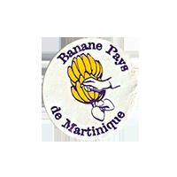 Banane Pays de Martinique  21,2 x 22,7 mm paper before 2012 France unique