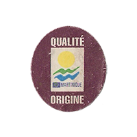 QUALITE ORIGINE MARTINIQUE  21,5 x 24,6 mm paper before 2012 NB France unique
