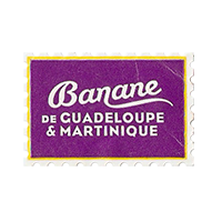 Banane  de GUADELOUPE & MARTINIQUE  29,7 x 20 mm paper before 2012 J France unique
