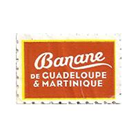 Banane  de GUADELOUPE & MARTINIQUE  29,7 x 20 mm paper 2013 J France unique