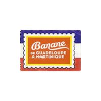 Banane  de GUADELOUPE & MARTINIQUE  29,7 x 20 mm paper 2015 J France unique