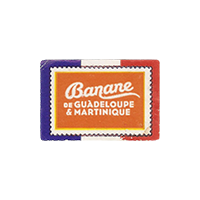 Banane  de GUADELOUPE & MARTINIQUE  29,7 x 20 mm paper 2016 M France unique