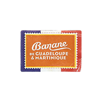Banane DE GUADELOUPE & MARTINIQUE  29,6 x 20,2 mm paper 2017 M France unique
