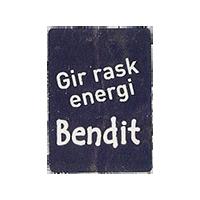 Bendit Gir rask energi  20 x 28 mm paper 2012 NB unique