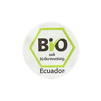 BIO  nach EG-Öko-Verordnung  21,5 x 21,5 mm paper before 2012 J Ecuador unique