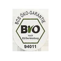BIO  BCS ÖKO-GARANTIE 94011 nach EG-Öko-Verordnung  22,3 x 26,6 mm paper before 2012 J unique