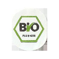 Bio PLU # 4238  22,2 x 26,7 mm paper 2015 NB unique