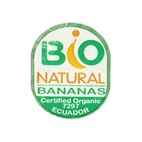 BIO NATURAL BANANAS Certified Organic 7297  21,8 x 26,7 mm paper before 2012 NB Ecuador unique