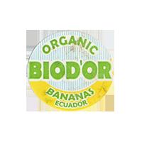 BIOD'OR ORGANIC BANANAS  23,7 x 22 mm paper before 2012 J Ecuador unique