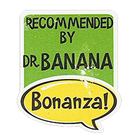 Bonanza! RECOMMENDED BY DR. BANANA  28,8 x 34,4 mm plastic 2011 J unique