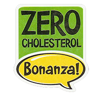 Bonanza! ZERO CHOLESTEROL  28,8 x 34,4 mm plastic 2011 J unique
