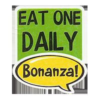 Bonanza! EAT ONE DAILY  28,8 x 34,4 mm plastic 2011 J unique