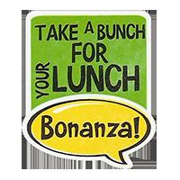 Bonanza! TAKE A BRUNCH FOR YOUR LUNCH  28,8 x 34,4 mm plastic 2011 J unique