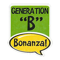 "Bonanza! GENERATION ""B""  28,8 x 34,4 mm plastic 2011 J unique"