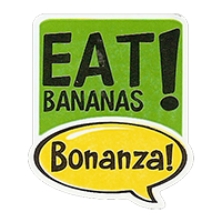 Bonanza! EAT BANANAS!  28,8 x 34,4 mm plastic 2011 J unique