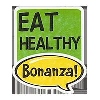 Bonanza! EAT HEALTHY  28,8 x 34,4 mm plasticr 2011 J unique