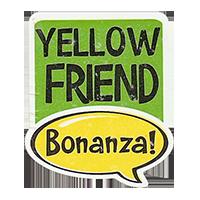 Bonanza! YELLOW FRIEND  28,8 x 34,4 mm plastic 2011 J unique