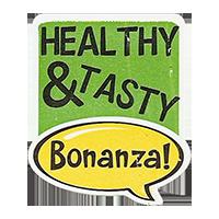 Bonanza! HEALTHY & TASTY  28,8 x 34,4 mm plastic 2011 J unique