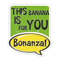 Bonanza! THIS BANANA IS FOR YOU  28,8 x 34,4 mm plastic 2011 J unique