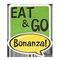 Bonanza! EAT & GO  28,8 x 34,4 mm plastic 2011 J unique