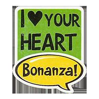 Bonanza! I LOVE YOUR HEART  28,8 x 34,4 mm plastic 2011 J unique