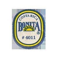 BONITA # 4011  22,3 x 26,8 mm paper before 2012 NB Costa Rica unique