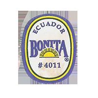 BONITA # 4011  22 x 28 mm paper before 2012 AA Ecuador unique