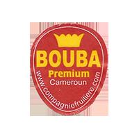 BOUBA Premium www.compagniefruitiere.com  22 x 25,8 mm paper before 2012 Cameroun unique