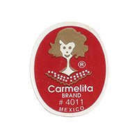 Carmelita BRAND # 4011  22,1 x 26,8 mm paper before 2012 TL Mexico unique
