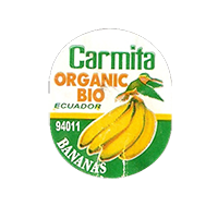 Carmita ORGANIC BIO 94011 BANANAS  22 x 26,7 mm paper before 2012  Ecuador unique
