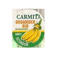 Carmita ORGANISCH BIO 94011 BANANEN  22 x 26,5 mm paper 2011 J Ecuador unique