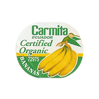 Carmita Certified Organic 72975 BANANAS  26,7 x 21,9 mm paper 2011 NB Ecuador unique