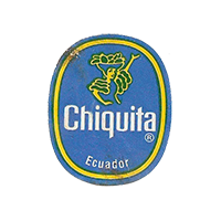 Chiquita   22 x 26,8 mm paper before 2012 Ecuador unique