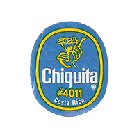 Chiquita  #4011  22,1 x 26,9 mm paper before 2012 Costa Rica unique