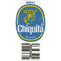 Chiquita #4011  22,2 x 44,8 mm paper 2016 PM Mexico unique