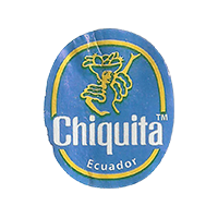 Chiquita  22,1 x 26,7 mm paper 2016 J Ecuador unique