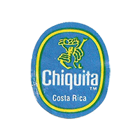 Chiquita  L  22,1 x 26,7 mm paper before 2012 Costa Rica unique