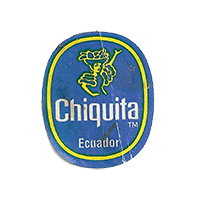 Chiquita   22 x 26,5 mm paper before 2012 NB Ecuador unique